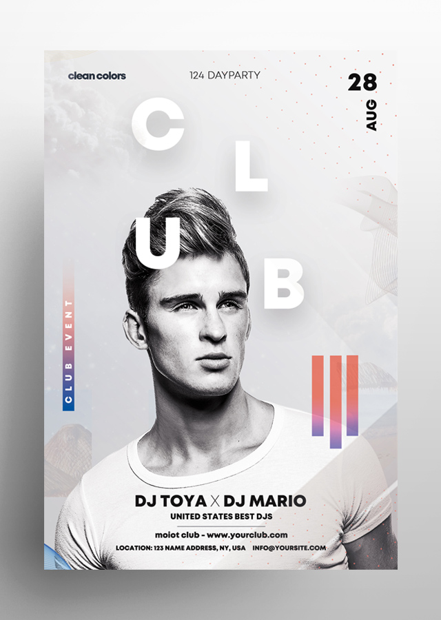 Club White Party PSD Flyer Template