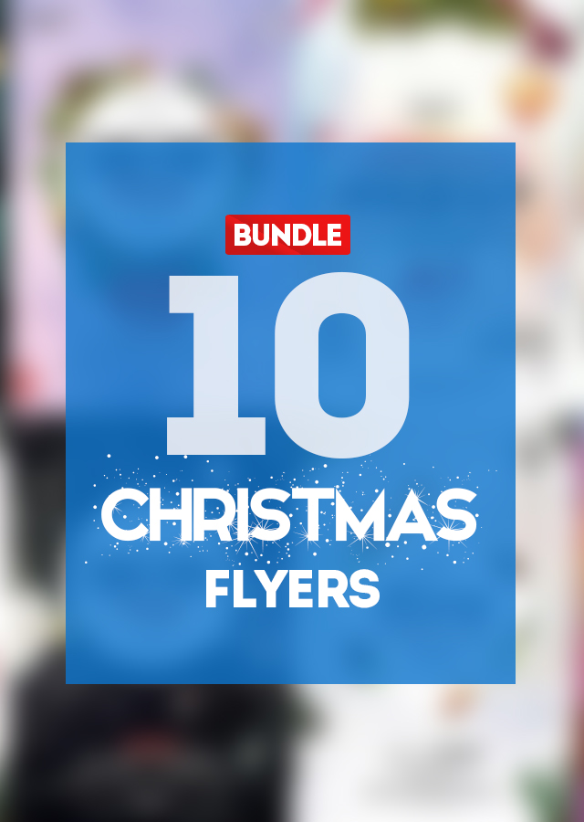 10 Christmas PSD flyers Templates