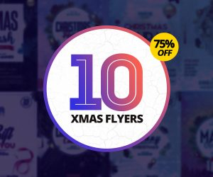 75% OFF: 10 Christmas PSD Flyers