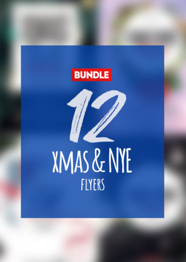 12 X-Mas and NYE Eve PSD Flyers