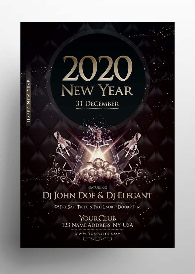 Happy NYE Eve PSD Flyer Template