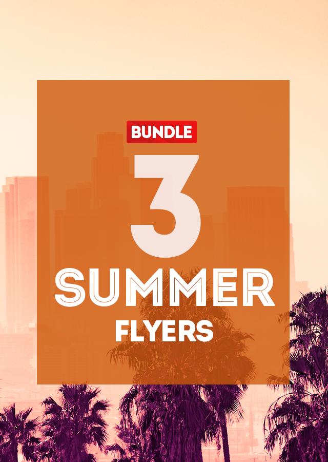3 Summer PSD Flyers Bundle