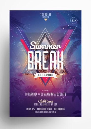 Summer Break PSD Flyer Template