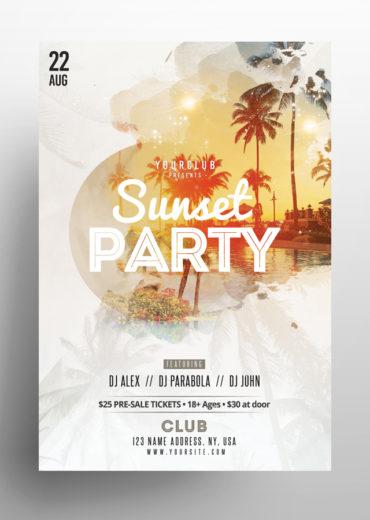 Sunset Party PSD Flyer Vol.2