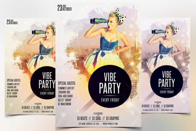 Vibe Party PSD Flyer Template
