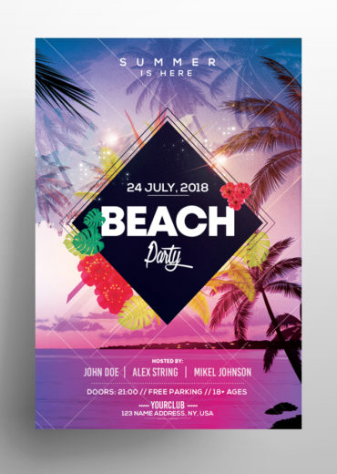 Beach Party - Summer PSD Flyer