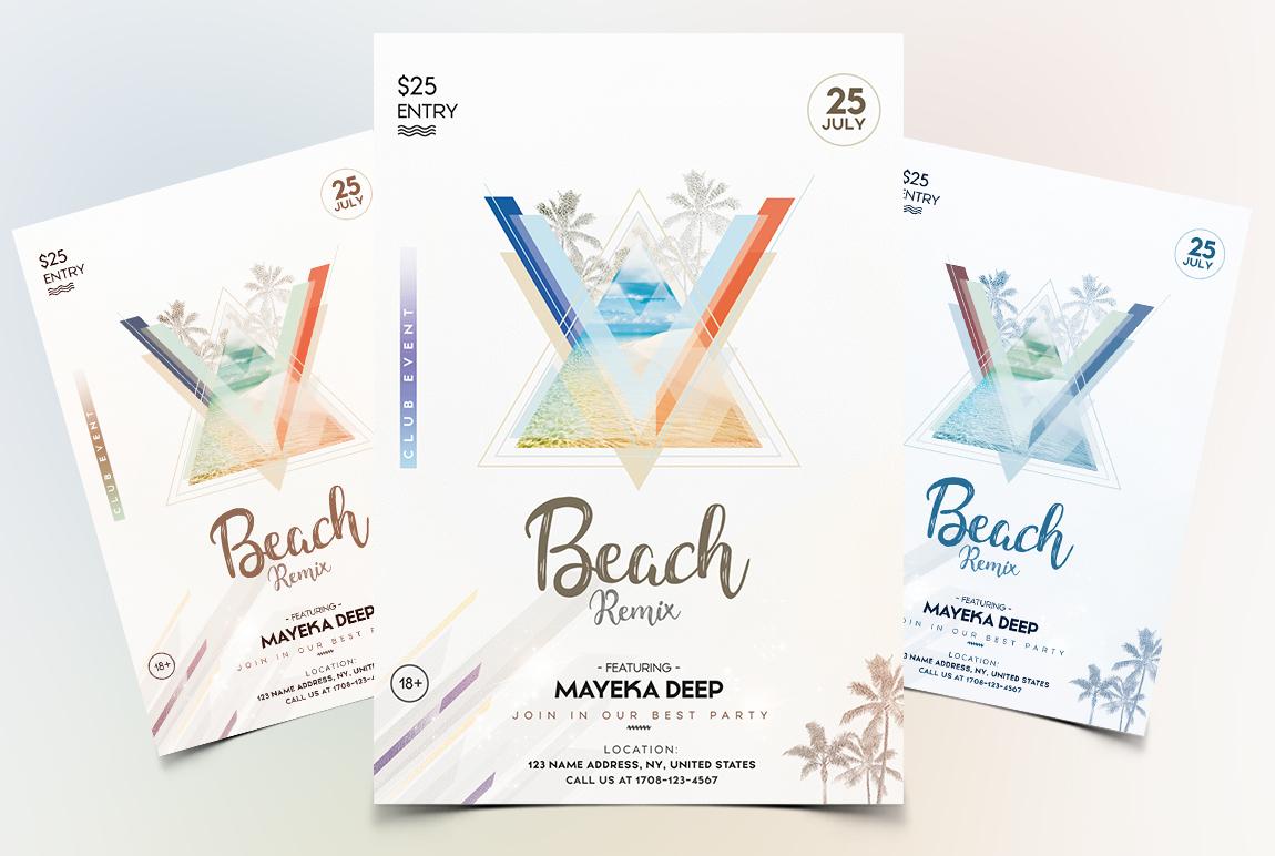 Beach Party - Geometric PSD Flyer