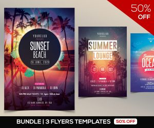 50% OFF: 3 Summer PSD Flyers
