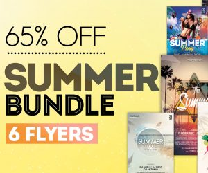 BUNDLE: 6 Summer PSD Flyers