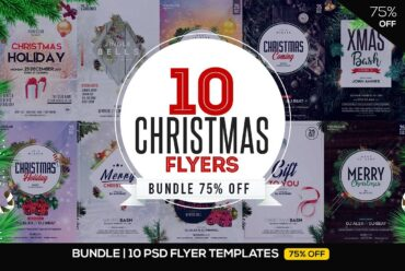 christmas psd flyer bundle 1