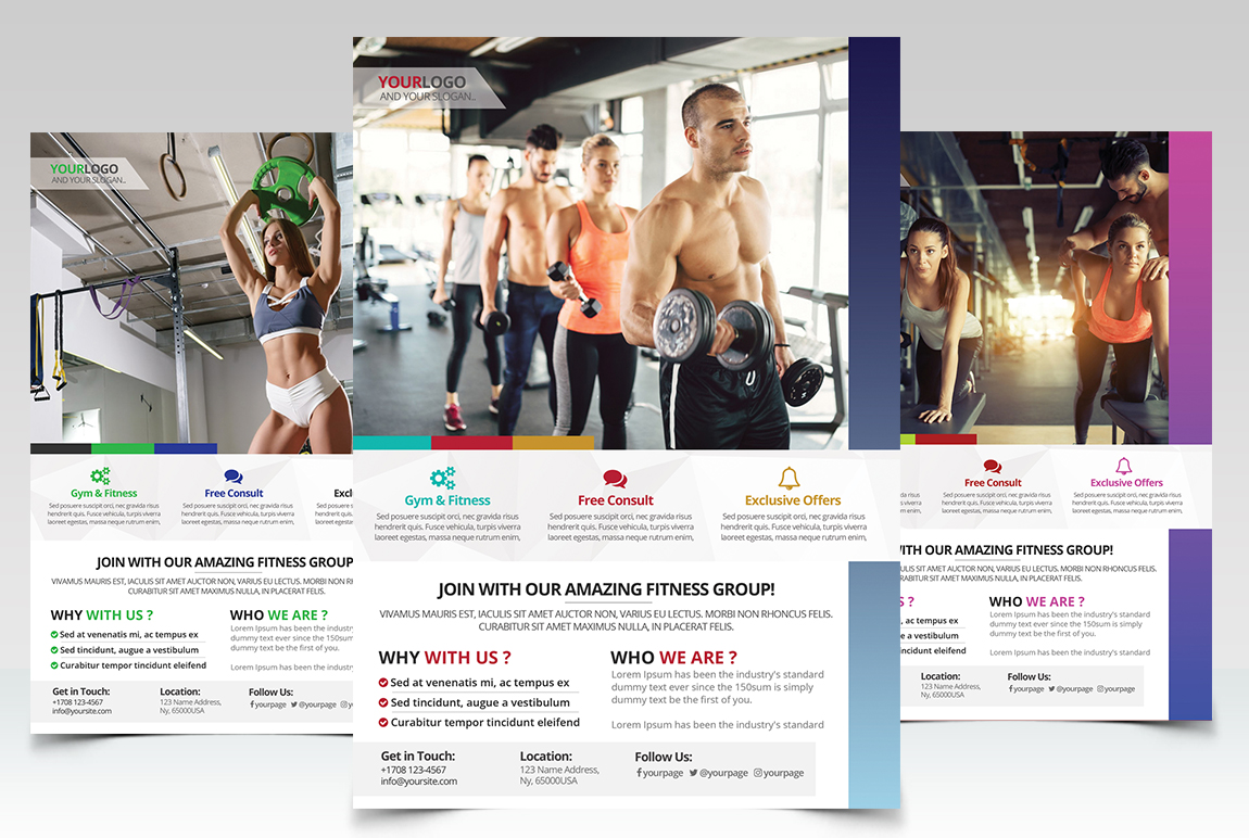 Fitness Gym PSD Flyer Template