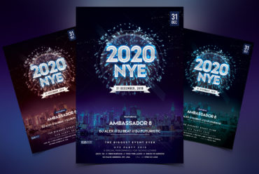 Happy NYE Event PSD Flyer Template