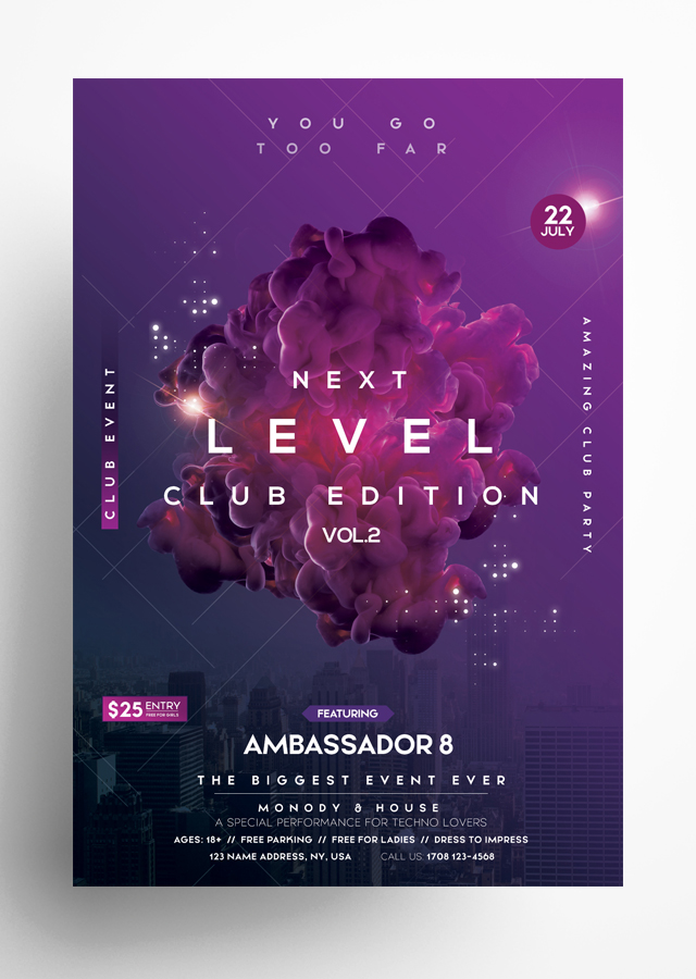 Next Level - Futuristic PSD Flyer