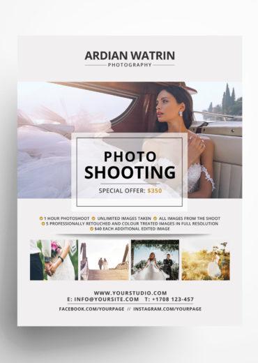Photography Portfolio PSD Flyer Template