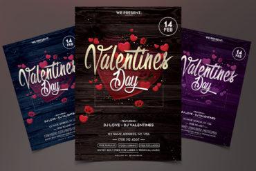 Valentine's Day PSD Flyer Template