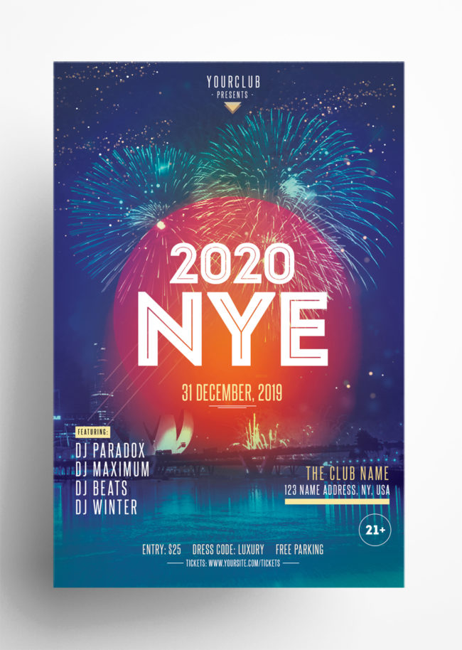 50% OFF ~ 3 New Year Eve Flyers