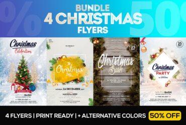 4 christmas bash flyer template 1