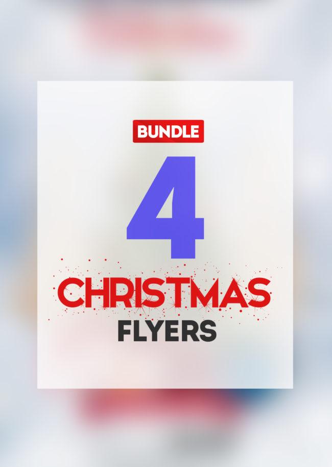 BUNDLE 50% OFF - 4 CHRISTMAS Flyers