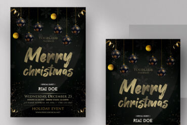Merry Christmas ~ Black & Gold Flyer