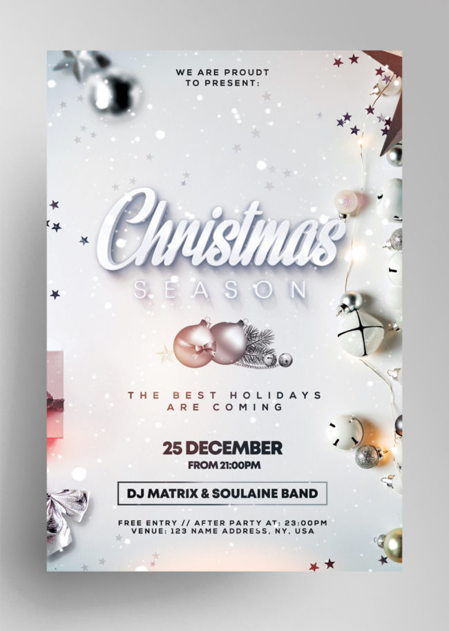 Christmas Season PSD Flyer Template