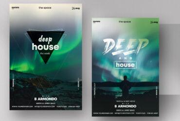 Deep House - PSD Flyer Template
