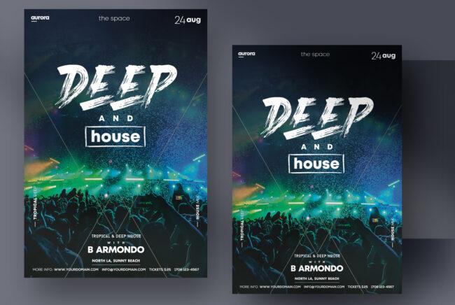 Deep House Vol2 PSD Flyer Template