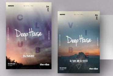 Deep House Vol3 PSD Flyer Template