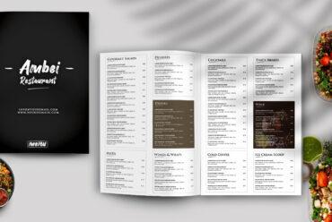 Restaurant Menu PSD Template Vol1
