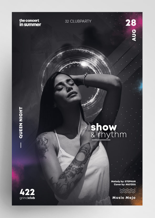 Show & Rhythm PSD Flyer Templates