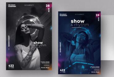 Show & Rhythm PSD Flyer Templates