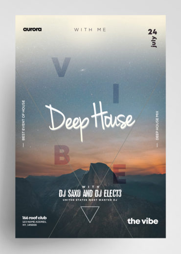 Deep House Vol3 PSD Flyer Template