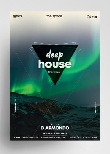 Deep House - PSD Flyer Template