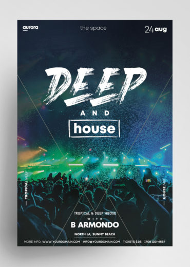 Deep House Vol2 PSD Flyer Template