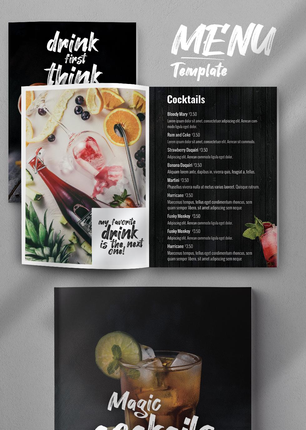 Creative Drinks Menu PSD Template