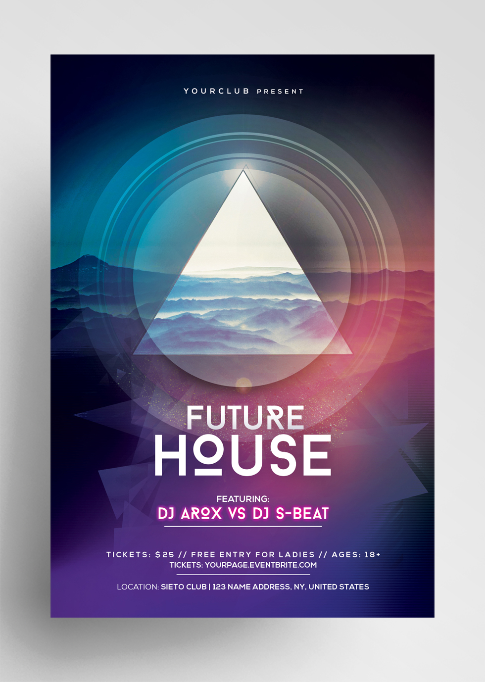 Future House - Futuristic Free PSD Flyer