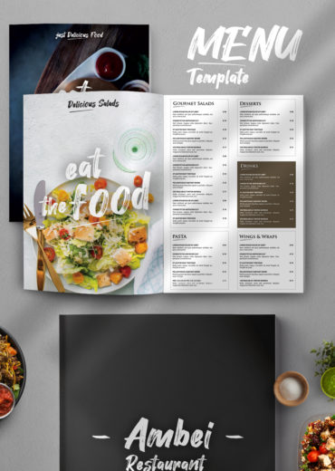 Restaurant Menu PSD Template Vol1
