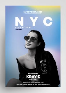 NYC Fashion Free PSD Flyer Template