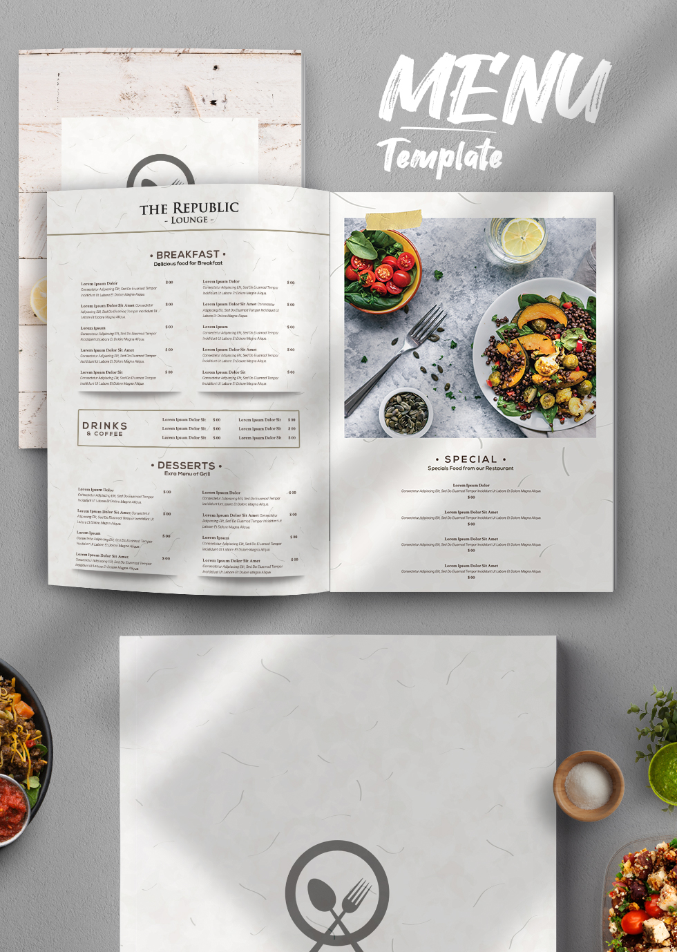 Restaurant Menu PSD Template Vol3