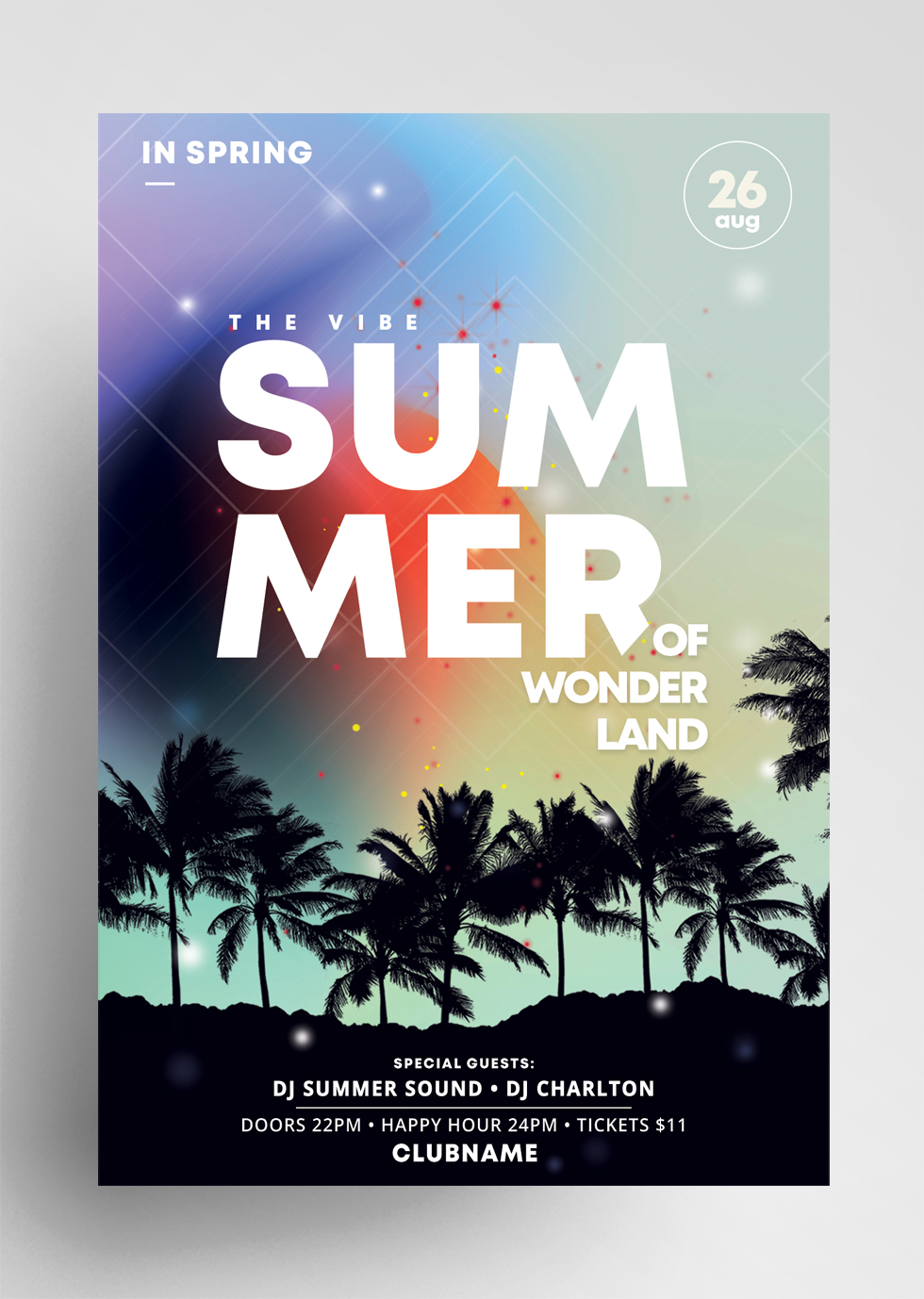 The Summer Vibe PSD Flyer Template