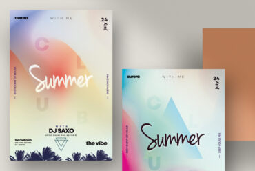 Summer Vivid PSD Flyer Template