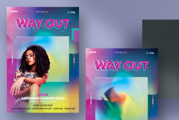 Way Out - Colorful PSD Flyers Templates
