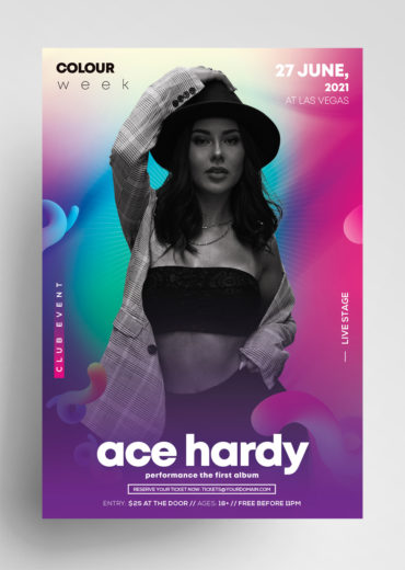 Color Week PSD Flyer Template