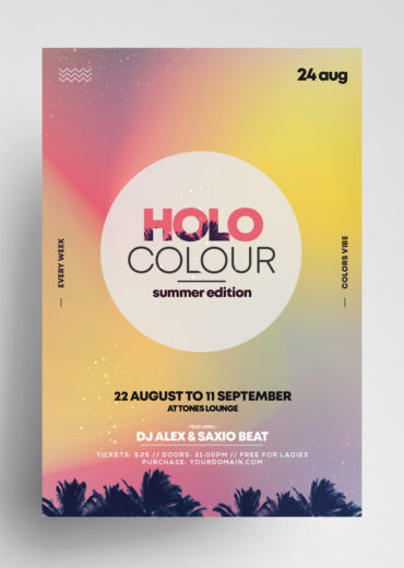 Holo Summer PSD Flyer Templates