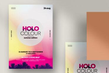 Holo Summer PSD Flyer Templates