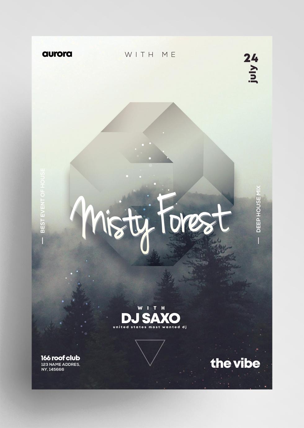 Misty Fog - Geometric Events PSD Flyers