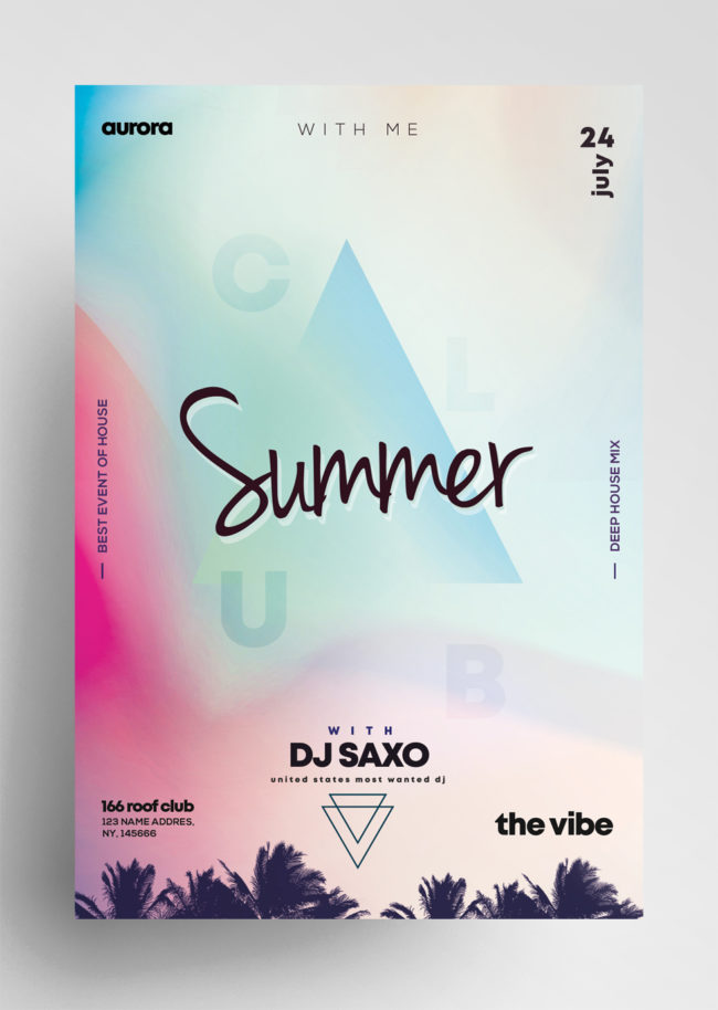 Summer Vivid PSD Flyer Template