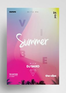 Summer Vivid Free Colorful PSD Flyer Template