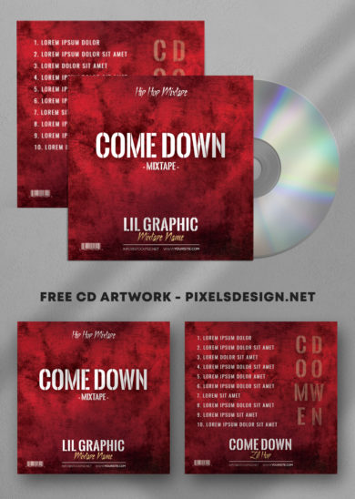 Come Down Mixtape Free PSD Mixtape Artwork