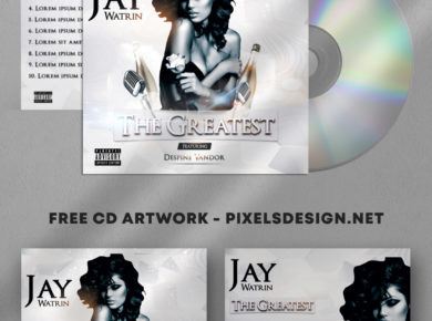 The Greatest – Free PSD Mixtape Cover Artwork