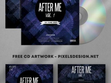 After Me - Freebie PSD Mixtape Album Artwork Cover